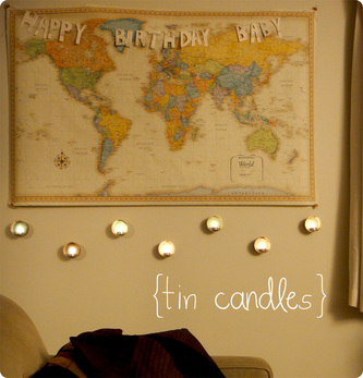 tin candles DIY