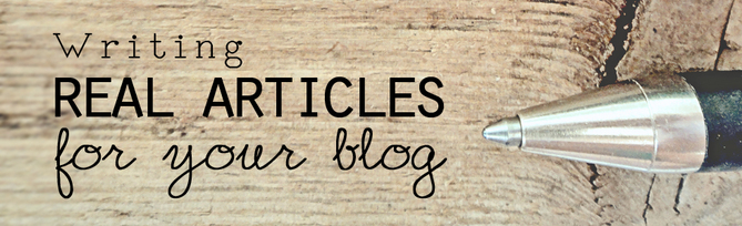 Becoming a blogger - tips on writing great articles